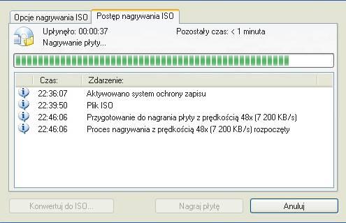 Jak nagrać na płytkę CD obraz z programem MHDD