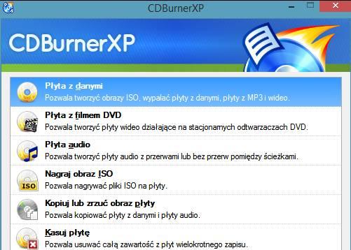 CD Burner nagrywanie programu MHDD