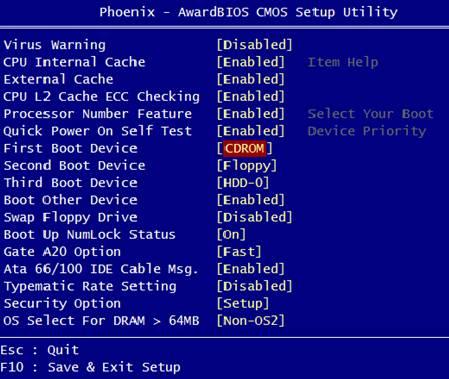 Bootowanie MHDD z płyty