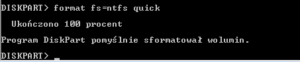 formatowanie partycji - diskpart