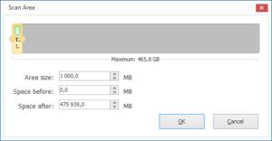 Macrorit Disk Partition Expert Scan Area