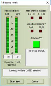 RightMark Audio Analyzer poprawne ustawienia programu
