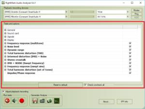 RightMark Audio Analyzer - testowanie karty dzwiękowej